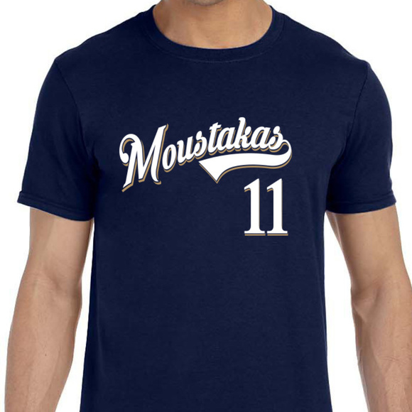 reputable site fff16 7ac47 Milwaukee Brewers Mike Moustakas Shirt NWT